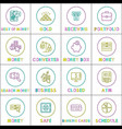 business and money financial icons collection vector image