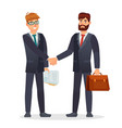 business people shaking hands partners making vector image vector image
