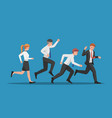 business team run follow leader vector image vector image