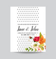Card with watercolor lily flowers for wedding