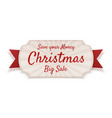christmas big sale realistic tag element vector image vector image