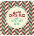 christmas card vintage design vector image vector image