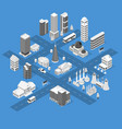 city map concept 3d isometric view vector image vector image