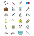 Color medicine icons set vector image vector image