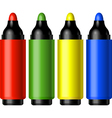 colorful pens vector image vector image