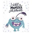 cute cartoon monsters vector image vector image
