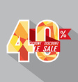 Discount 40 Percent Off vector image vector image