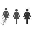 dispersed dot halftone woman icon vector image vector image