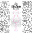 fashion online shop vector image vector image