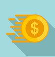 fast coin money transfer icon flat style vector image vector image