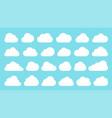 flat cloud shape network web data black icon set vector image