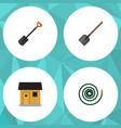 flat icon dacha set of hosepipe spade shovel and vector image