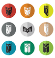 group owl in circle vector image vector image
