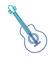 guitar musical instrument isolated icon vector image vector image