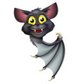 halloween bat pointing vector image vector image