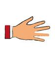 hand person cartoon draw vector image vector image