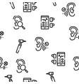 hearing human sense seamless pattern vector image vector image