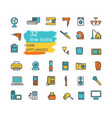home appliances linear icon set vector image vector image