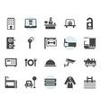 hotel service icon and symbol set in glyph design vector image vector image