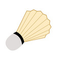 isolated badminton shuttlecock icon vector image