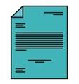 Isolated piece of paper design vector image vector image