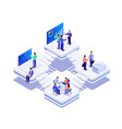 isometric bussines co-working space concept vector image vector image
