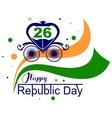 January 26 Happy Republic Day India vector image