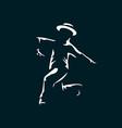 jazz dancer in dark with light vector image