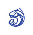 jumping fish out of the water vector image vector image