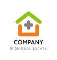 logo for real estate company in ireland - symbol vector image vector image