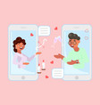 mobile dating app vector image