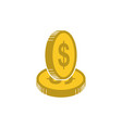 money icon bank or financial symbol vector image