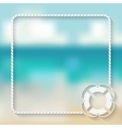 nautical card template with a lifebuoy vector image vector image