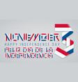november 3 panama independence day congratulatory vector image vector image