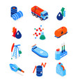 oil industry - modern colorful isometric icons set vector image