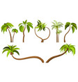 palm trees isolated on white background beautiful vector image vector image