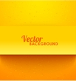 Paper orange rectangle banner with drop shadows vector image vector image
