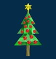 Polygon Christmas tree image vector image