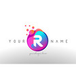 r dots letter logo with bubbles a letter design vector image vector image