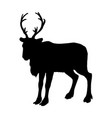 reindeer silhouette black white icon christmas vector image