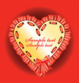 Romantic Love Heart Design vector image vector image