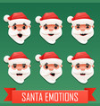 santa emotions vector image