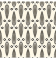 Seamless pattern with retro ornamental elements vector image vector image