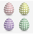 set easter eggs isolated on white 3d vector image
