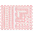 set of lace seamless ribbons or brushes for design vector image