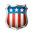 shield with amrerican design vector image vector image