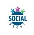 Social Group logo vector image vector image