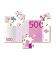 stylized 500 euro vector image vector image
