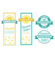 summer sale tag collection text is outline vector image vector image