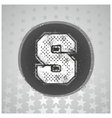 The letter S sport style vector image